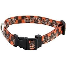 Adjustable Nylon Cleveland Browns Small Dog Collar