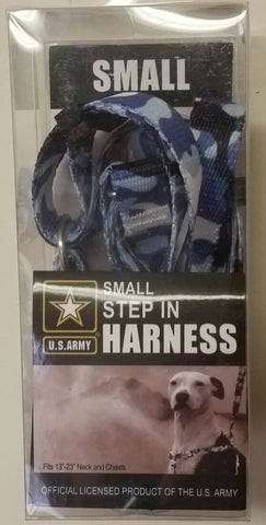 U.S Army Step-In Harness, Small, Blue Camo