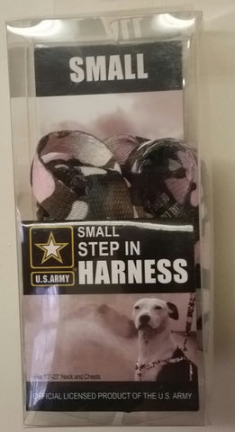 U.S Army Step-In Harness, Small, Pink Camo
