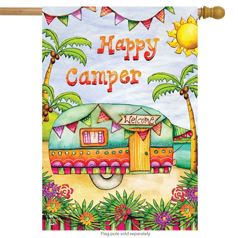 Tropical Camper Garden Flag, #G00594