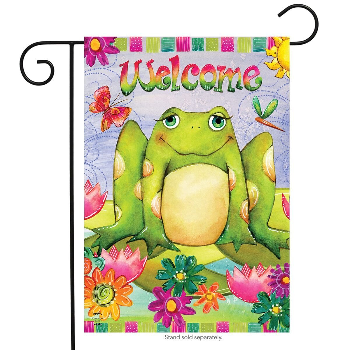 Happy Frog Garden Flag, #G00595
