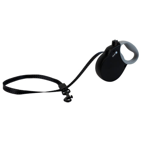Pet Retractable Leash Black Extra Small