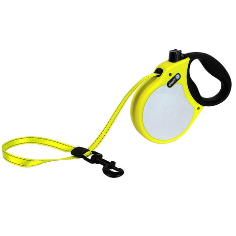 Pet Retractable Leash Neon Yellow Large