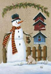 Snowman/Crackle Garden Flag, #9923FM