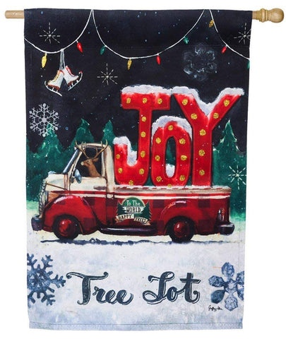 Tree Lot Plaid-Joy House Flag, #13s3954bl