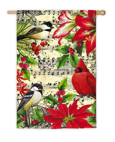 Winter Birds on Music House Flag, #13S3962