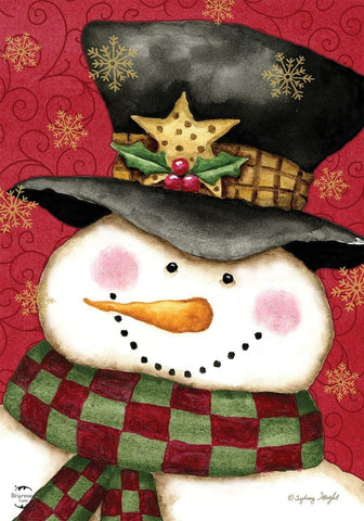 Holly Jolly Snowman Garden Flag, #G00691