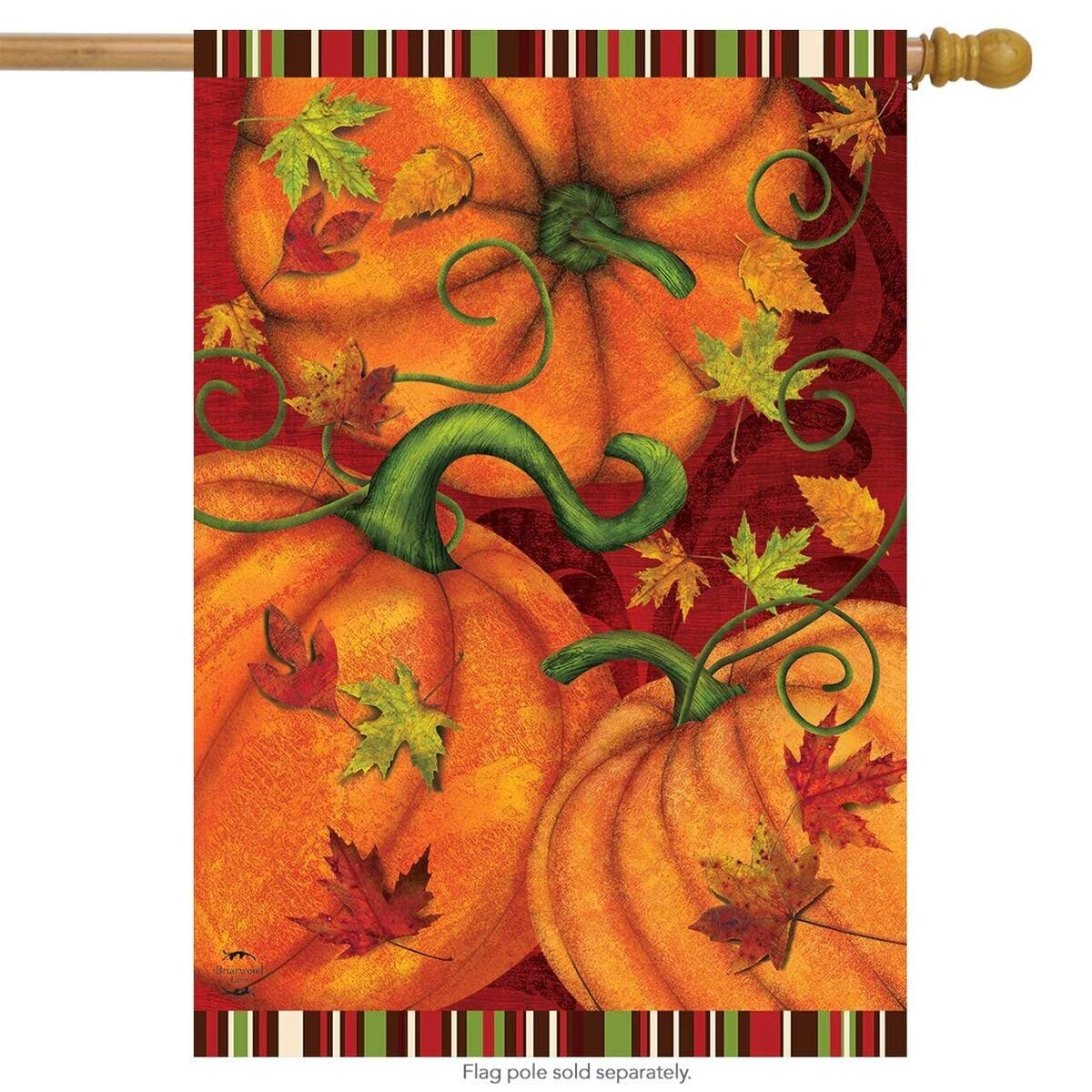 Pumpkin Patch Garden Flag, #G00678