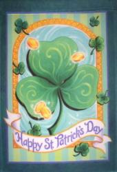 St. Patrick's Day House Flag, #0318fl