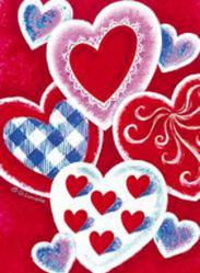 Valentine Hearts House Flag, #9347fl