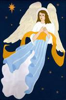 Angelic Night Garden Flag,  #161061