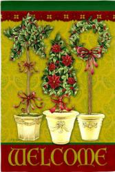 Welcome Christmas Season Garden Flag,  #141444