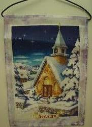 Winter Church Scene Garden Flag,  #90110