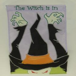 Witch Scare Garden Flag,  #70745