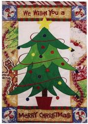 X-Mas Tree Garden Flag,  #16260