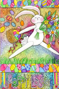 Happy Easter Spring Garden Flag,  # ddes0004g