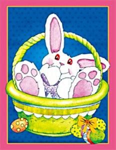 Bunny in Basket Garden Flag,  # cses0003g