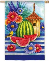 Birdhouse and Watermelons Garden Flag,  #141415