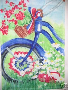 USA Bike Flip Flops Garden Flag,  #78653