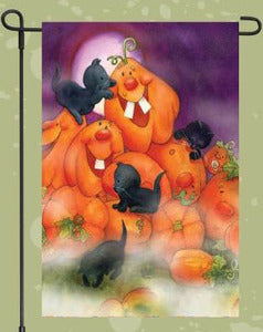 Kittens and Jack-O-Lanterns Garden Flag, #F2HB12004G