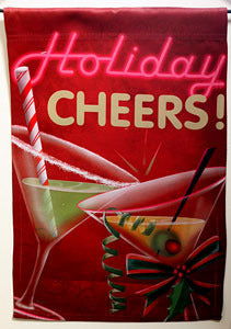 Holiday Cheers Garden Flag,  # 45180