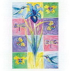 Floral Friends Garden Flag,  #z05996