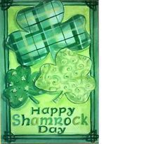 Happy Shamrock Day House Flag, #DDSP0001L