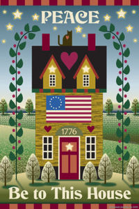 Peace Be To This House Garden Flag,  #JFL003