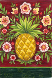 Pineapple and Flowers Garden Flag,  #141621