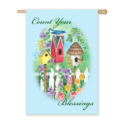 Count Your Blessings Garden Flag, # 141080