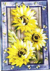 Country Sunflowers Garden Flag,  #14587