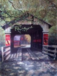 Covered Bridge Garden Flag,  #14262