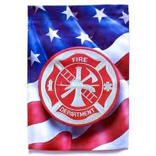 Fire Dept. Garden Flag,  #71105