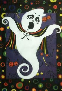 Spooky Ghost Garden Flag,  #KLY1048004