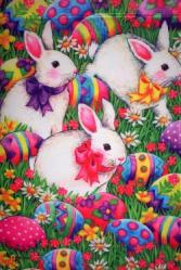 Easter Egg & Bunnies House Flag, #9816FL
