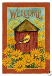 Fall Birdhouse House Flag, #131188