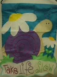 Take Life Slow Applique Garden Flag, #79309