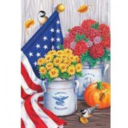 Fall Freedom Garden Flag,  #0123fm