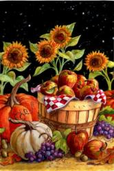 Fall Harvest Garden Flag,  #141369