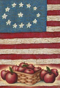 Stars Stripes and Apples House Flag,  #FL322