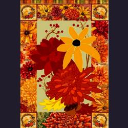 Fall Mums (Hybird design) House Flag, #15596