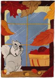 Fall Window House Flag, #15574