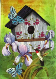 Birdhouse & Flower House Flag, #FL51