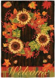 Fall Wreath Garden Flag,  #141351