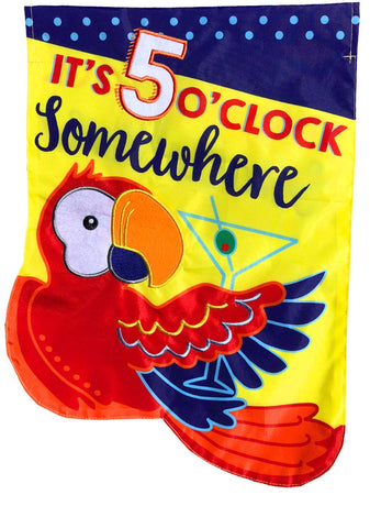5 O'Clock Applique Garden Flag, #G00855