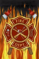 Fire Dept House Flag,  #9080FL