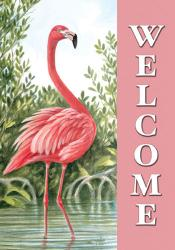 Flamingo Welcome Garden Flag, #9961FM