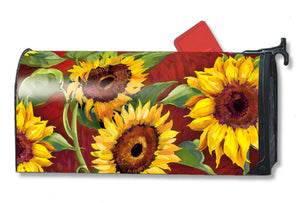 Martha's Sunflowers Standard Size Mailbox Cover, #6051
