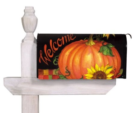 Welcome Harvest Time Standard Size Mailbox Cover, #56256