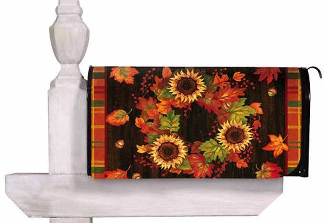 Autumn Wreath Standard Size Mailbox Cover, #56220